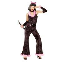 Карнав. костюм для взрослых женщина кошка, 4 пред:, комб, ободок, колье, х