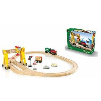 33048, набор железной дороги brio погрузочный пункт с подъемником и тяга