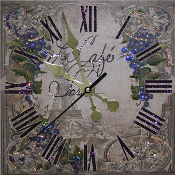 Картина сваровски - часы виноградная лоза