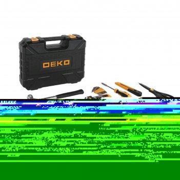 Дрель-шуруповерт deko dkcd12fu-li и набор инструментов deko, 12 в, 2 а*ч,