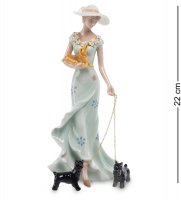 Cms-32/ 4 статуэтка дама с собаками (pavone)