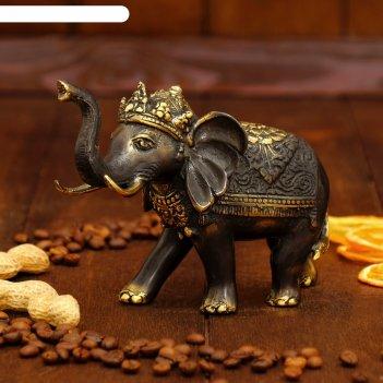 Сувенир бронза королевский слон 15,5х7х12 см