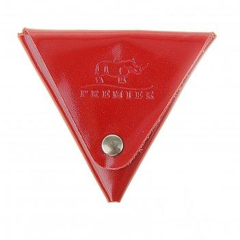 Монетница, треугольник на кнопке, красная