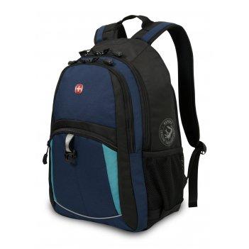 Рюкзак wenger, синий/черный/бирюзовый, полиэстер 600d/2 мм рипстоп/фьюжн,