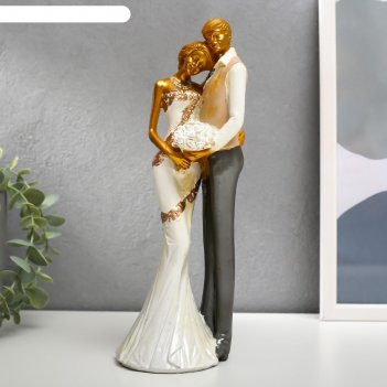 Сувенир полистоун влюблённая пара - свадьба 25х8,5х8,5 см