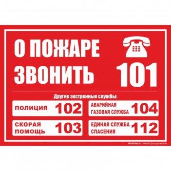 Табличка службы спасения 200*200мм, пвх