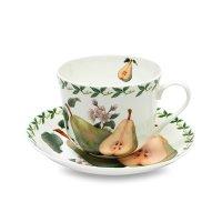 Чашка чайная с блюдцем «груша», объем: 480 мл, материал: фарфор, цвет: бел