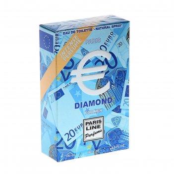 Туалетная вода euro diamond intense perfume, мужская, 100 мл