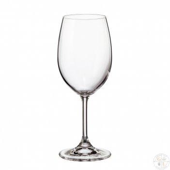 Набор бокалов для вина crystalite bohemia sylvia/klara 350 мл (6 шт)