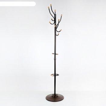 Вешалка напольная с деревянными наконечниками (вко1/а), цвет медный антик
