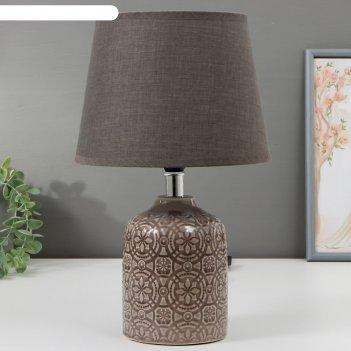 Лампа настольная 16413/1 e14 40вт серый 20х20х32 см