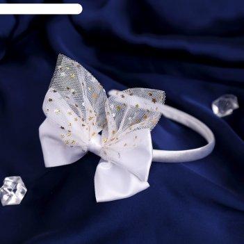 Ободок для волос выпускница 0,5 см, звёздочки, белый