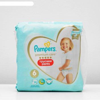 Трусики-подгузники pampers premium care pants large 16+ кг, 36 шт