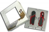 Набор wenger: зажигалка + нож. цвет красный