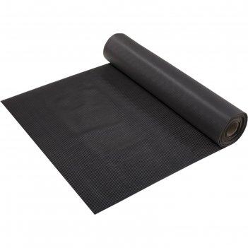 Коврик-дорожка пвх  полоска 2,3 мм 0,9*10 м, против скольжения, черный