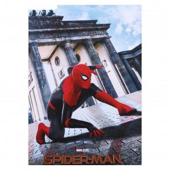 Постер человек-паук в городе 50х70 см