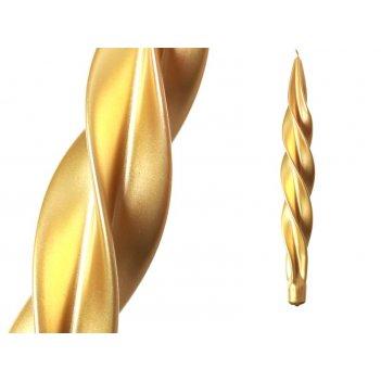 """Свеча """"моцарт"""" металлик золото высота=32 см"""