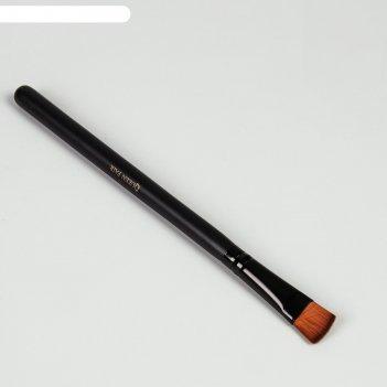 Кисть для макияжа д/ненес тонального крема 16см №11/14 прямая pvc qf черны
