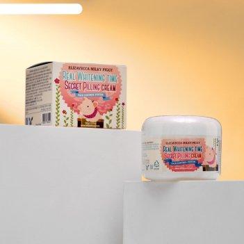 Крем-пилинг для лица elizavecca milky piggy real whitening time secret pil