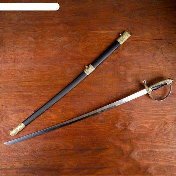 Сув. изделие сабля, ножны черные с бронзой, клинок 77  см