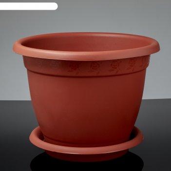 Горшок для цветов d=43 см борнео №8, поддон, терракотовый