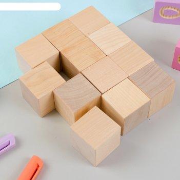 Кубики неокрашенные, 12 шт., размер кубика: 3,8 x 3,8 см