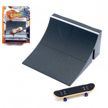 Пальчиковый скейтборд с рампой «скейт-парк», микс