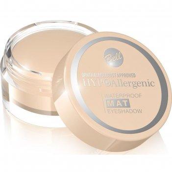 Матовые тени для век bell hypoallergenic waterproof mat eyeshadow, тон 01