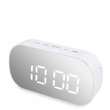 Ял-07-25/1 часы электронные зеркальные (белый с белым циферблатом)