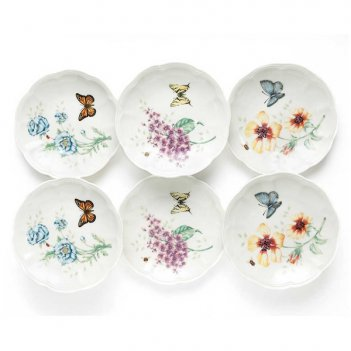 Набор тарелок пирожковых lenox бабочки на лугу 15см, 6шт