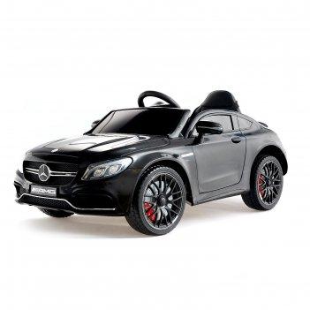 Электромобиль mercedes-benz c63 s amg, окраска черный, eva колеса