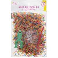 Набор плетение из резиночек фигурные цветочки 1000 шт, крючок, крепления,