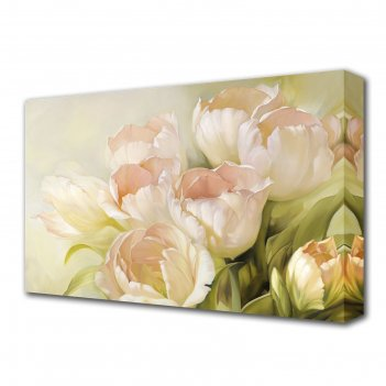 Картина на холсте нежные тюльпаны
