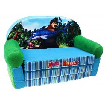Мягкая игрушка диван-кровать маша и медведь