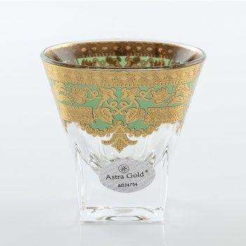 Набор стопок для водки 60 мл natalia golden turquoise d. astra gold (6 шт)