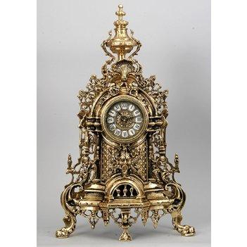 Часы бронзовые золотые (58х34см)