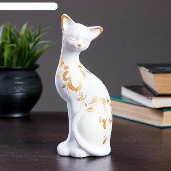 Фигура кошка ушастая 7 x 7,5 x 20 см 088 белая