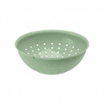 Дуршлаг organic, объем: 2 л, материал: полипропилен, цвет: зеленый, серия
