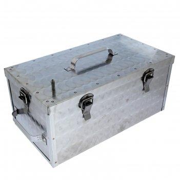 Коптильня домашняя магарыч морозко 20 л прямоугольная,2 яруса, на защелках