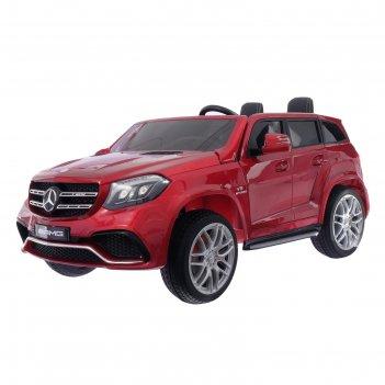 Электромобиль mercedes-benz gls amg, 4wd полный привод, eva колёса, цвет к