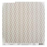 Бумага для скрапбукинга паттерн серый, 29,5 х 29,5 см