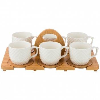 Чайный набор на 6 персон native 12пр. 300мл на подставке (кор=6наб.)