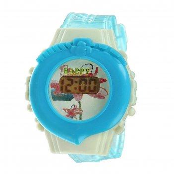 Часы наручные детские прелесть, электронные, с силиконовым ремешком,микс