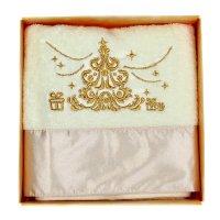 Полотенце с вышивкой collorista ёлка, 32х70 см, хлопок