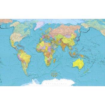 Политическая карта мира 225 x 352 см