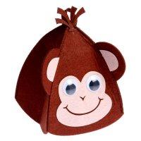 Шапки детские с доп.элементом обезьянка, 20 х 15 см
