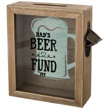 Копилка для пробок фонд папиного пива 21*22*7 см овки