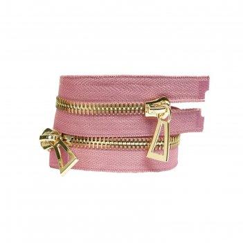 Молния для одежды, №10, 100 см, пыльно розовый
