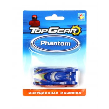 1toy top gear пласт. машинка phantom, инерц. блистер
