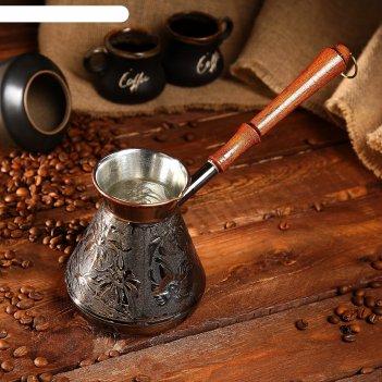 Турка  для кофе медная ромашка 0,6л